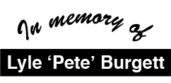 In Memory of Pete Burgett
